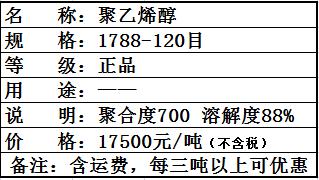 聚乙烯醇1788