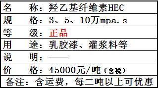 羟乙基纤维素(HEC)