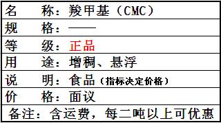 羧甲基纤维素(食品级)